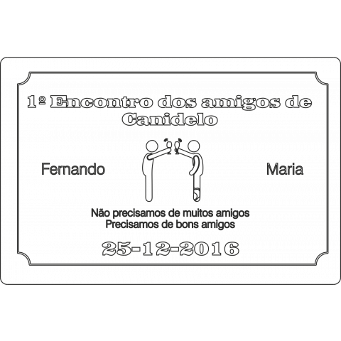 Gravações Placa gravada comemorativa